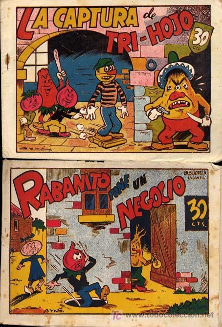 Tebeos: RABANITO Y CEBOLLETA, BIBLIOTECA INFANTIL, AÑOS 1940 , 30 CTS FOTOS, Nº SUELTO CONSULTAR ARCOS PAJA - Foto 4 - 12479661