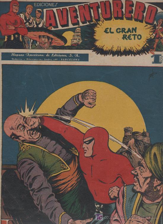 AVENTURERO, H. AMERICANA 1945 ORIGINAL , 38 X 27,5 Y 35 X 25, 25 NOS EN BASTANTE (Tebeos y Comics - Tebeos Colecciones y Lotes Avanzados)