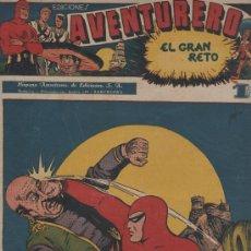 Tebeos: AVENTURERO, H. AMERICANA 1945 ORIGINAL , 38 X 27,5 Y 35 X 25, 25 NOS EN BASTANTE. Lote 24119771