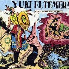 Tebeos: YUKI, EL TEMERARIO - 112 EJEMPLARES (COLECCIÓN COMPLETA, REEDICIÓN) - ED. VALENCIANA 1958. Lote 22524257