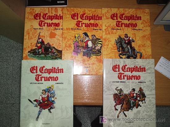 EL CAPITAN TRUENO / EDICION DE LUJO / OBRA COMPLETA 5 TOMOS / VICTOR MORA, AMBROS Y FUENTES MAN (Tebeos y Comics - Tebeos Colecciones y Lotes Avanzados)