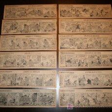 Tebeos: LOTE TIRAS ORIGINALES DE PERIÓDICO 1935 DEL RATÓN MIGUELIN (MICKEY MOUSE). Lote 27137413