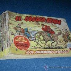 Tebeos: EL COSACO VERDE - LOTE DE 56 TEBEOS ORIGINALES. Lote 25294979