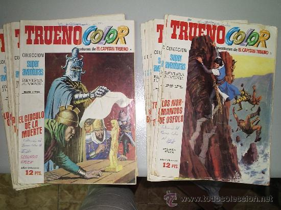 TRUENO COLOR , SEGUNDA EPOCA ¡ LOTE 20 PRIMEROS NUMEROS (Tebeos y Comics - Tebeos Pequeños Lotes de Conjunto)