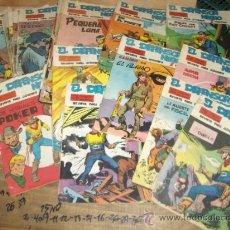 Tebeos: LOTE 12 NºS ORIGINALES DE DEFENSOR NEGRO. ED. MAGA 1963. PORTES GRATIS!!!!!!!!!!. Lote 22563318