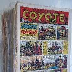 Tebeos: EL COYOTE, CLIPER 1947. LOTE ORIGINAL DE 128 EJEMPLARES ( INCLUIDOS 4 ALMANAQUES). Lote 15349141
