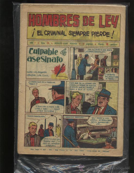 HOMBRES DE LEY (Tebeos y Comics - Tebeos Colecciones y Lotes Avanzados)