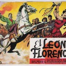 Tebeos: EL LEÓN DE FLORENCIA. SUPLEMENTO DE PANTERA NEGRA. COLECCIÓN COMPLETA Y LAS TAPAS SIN ENCUADERNAR.. Lote 18036532