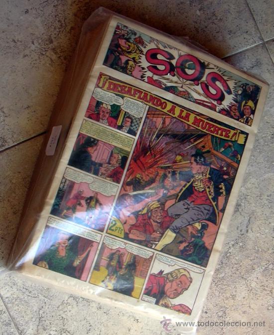S.O.S. - SOS - EDITORIAL VALENCIANA 1951 - COMPLETA 68 TEBEOS NUEVOS SIN ABRIR (Tebeos y Comics - Tebeos Colecciones y Lotes Avanzados)