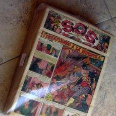 Tebeos: S.O.S. - SOS - EDITORIAL VALENCIANA 1951 - COMPLETA 68 TEBEOS NUEVOS SIN ABRIR. Lote 27013385