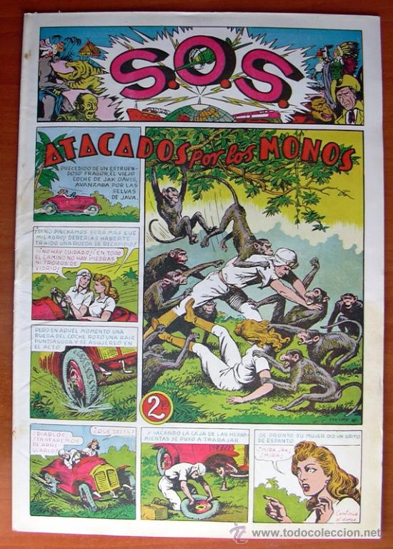 Tebeos: S.O.S. - SOS - Editorial Valenciana 1951 - Completa 68 tebeos nuevos sin abrir - Foto 3 - 27013385