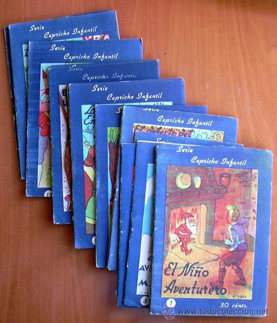 CAPRICHO INFANTIL (CUENTOS) - EDITORIAL VALENCIANA 1942 - COMPLETA 16 CUENTOS (Tebeos y Comics - Tebeos Colecciones y Lotes Avanzados)