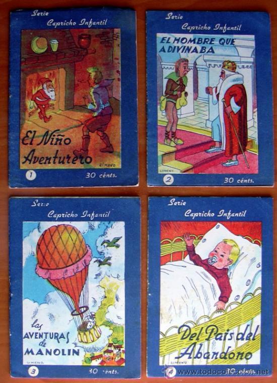 Tebeos: Capricho infantil (cuentos) - Editorial Valenciana 1942 - Completa 16 cuentos - Foto 2 - 27275000