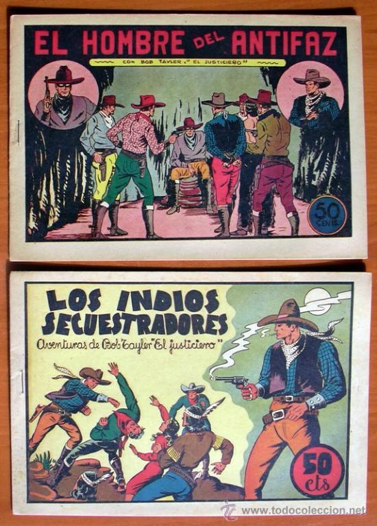 Tebeos: Bob Tayler el justiciero - Editorial Valenciana 1945 - Colección Completa, 6 tebeos - Foto 2 - 27013388