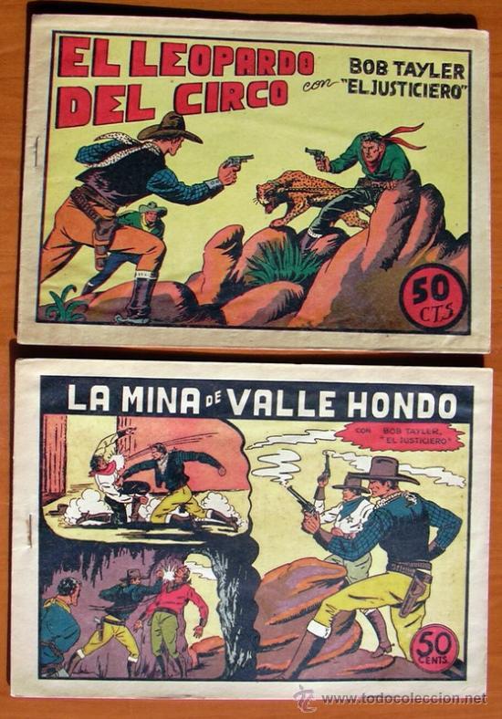 Tebeos: Bob Tayler el justiciero - Editorial Valenciana 1945 - Colección Completa, 6 tebeos - Foto 3 - 27013388
