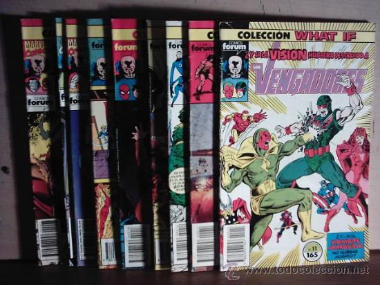 WHAT IF ... - VOL. 1 - FORUM - LOTE 10 NUMEROS (Tebeos y Comics - Tebeos Colecciones y Lotes Avanzados)