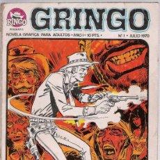 Tebeos: GRINGO. IBEROMUNDIAL 1970. LOTE DE 19 EJEMPLARES.. Lote 27570428