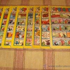 Tebeos: LOTE 9 PULGARCITOS CON CAPITÁN TRUENO . BRUGUERA 1958. 2,50 PTS.. Lote 17330345