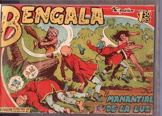 Tebeos: BENGALA. 2º SERIE COMPLETA Y ENCUADERNADA. 2 TOMOS. MAGA. Nº 1 AL Nº 45. - Foto 2 - 26114124