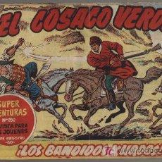 Tebeos: EL COSACO VERDE. LOTE DE 39 EJEMPLARES DEL 1 AL 39 ENCUADERNADOS EN UN TOMO.. Lote 17799517