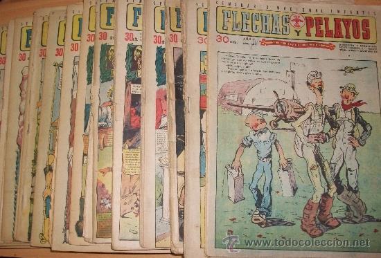 FLECHAS Y PELAYOS 84 EJ. (ENTRE EL 202 AL 307) (LOTE) (Tebeos y Comics - Tebeos Colecciones y Lotes Avanzados)