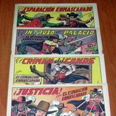 Tebeos: EL ESPADACHIN ENMASCARADO - EDITORIAL VALENCIANA 1952 - COMPLETA, 252 CUADERNOS NUEVOS. Lote 27081246