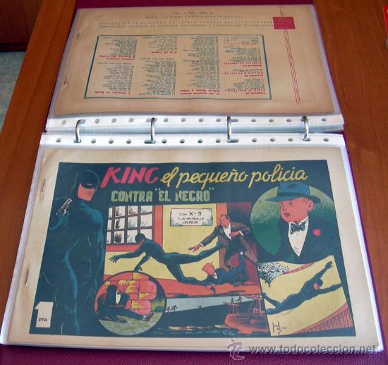 Tebeos: King el pequeño policia - Editorial Valenciana 1945 - Completa - 28 ejemplares - Foto 4 - 27013382