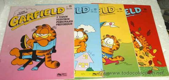 GARFIELD -- LOTE CON LOS Nº 15 - 17 - 19 - 20 - TODOS CONSERVAN EL POSTER - LIQUIDACIÓN-LEER TODO (Tebeos y Comics - Tebeos Pequeños Lotes de Conjunto)