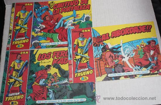 CAPITAN TRUENO, COLECCION DAN , Nº 2+Nº3+Nº5, FACSIMIL (LOTE OFERTA) (Tebeos y Comics - Tebeos Pequeños Lotes de Conjunto)