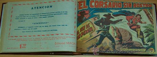 EL CORSARIO SIN ROSTRO (MAGA) 42 EJ. (COMPLETA) (ENCUADERNADA) (Tebeos y Comics - Tebeos Colecciones y Lotes Avanzados)