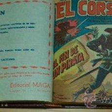 Tebeos: EL CORSARIO SIN ROSTRO (MAGA) 42 EJ. (COMPLETA) (ENCUADERNADA). Lote 26160875