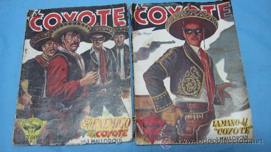 DOS REVISTAS ANTIGUAS DEL COYOTE POR J MALLORQUI EDICIONES CLIPER (Tebeos y Comics - Tebeos Pequeños Lotes de Conjunto)