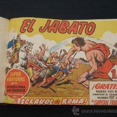 Tebeos: EL JABATO - 2 TOMOS ENCUADERNADOS - NUMEROS 1 AL 100 - ORIGINALES - EDITORIAL BRUGUERA - . Lote 26885973