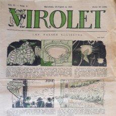 Tebeos: VIROLET. SUPLEMENT ILLUSTRAT D EN PATUFET. ANY II. Nº 86.AL 104 BARCELONA, 14 DE NOVEMBRE DE 1923 A . Lote 28624183