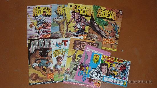 LOTE DE 9 TEBEOS O COMICS DIVERSOS. CAPITAN TRUENO, JAVATO... VER FOTOS. (Tebeos y Comics - Tebeos Pequeños Lotes de Conjunto)
