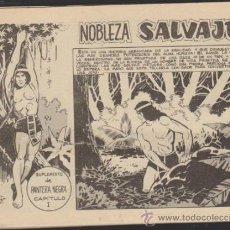 Tebeos: NOBLEZA SALVAJE. COMPLETA 10 EJEMPLARES. SUPLEMENTO DE PANTERA NEGRA.. Lote 32596170
