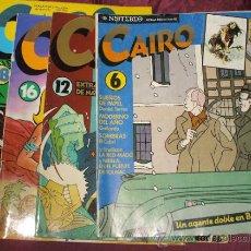 Tebeos: LOTE 4 COMIC CAIRO NUMEROS 6, 12,16 Y 18. Lote 282501708