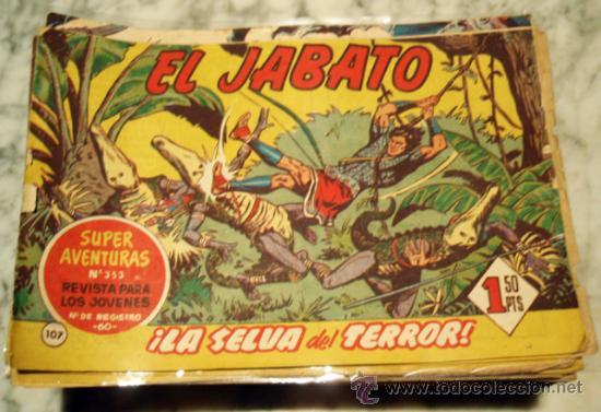LOTE DE 150 TEBEOS DE EL JABATO , BRUGUERA , ORIGINALES . (Tebeos y Comics - Tebeos Colecciones y Lotes Avanzados)