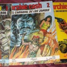 Tebeos: ARCHIE CASH.COLECCION COMPLETA. LOTE DE 3 NUMEROS:1 ,2 Y 3. EDICIONES RASGOS, 1983.. Lote 33861793
