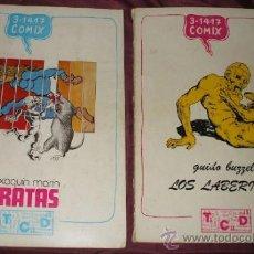 Tebeos: COLECCION COMPLETA COMICS 3-14-17 COMIX EN TOTAL 2 NUMEROS DE 1977. Lote 33897577