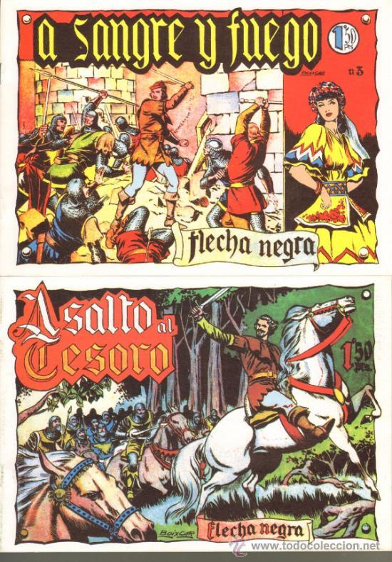 TEBEOS-COMICS GOYO - FLECHA NEGRA - BOIXCAR - 1949 - COMPLETA *CC99 (Tebeos y Comics - Tebeos Colecciones y Lotes Avanzados)