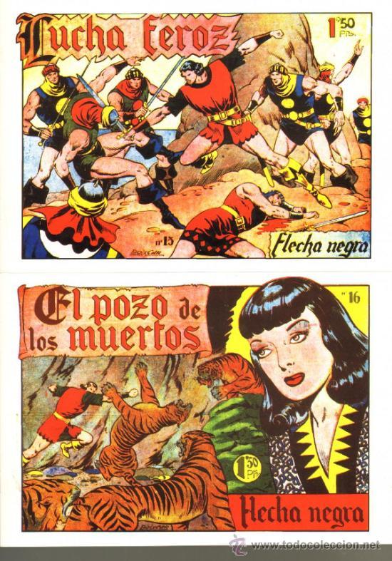 Tebeos: TEBEOS-COMICS GOYO - FLECHA NEGRA - BOIXCAR - 1949 - COMPLETA *CC99 - Foto 3 - 34045434