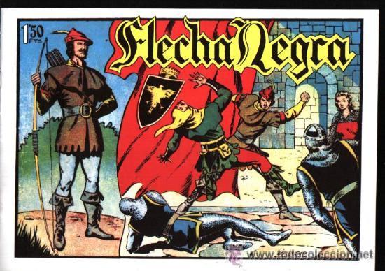 Tebeos: TEBEOS-COMICS GOYO - FLECHA NEGRA - BOIXCAR - 1949 - COMPLETA *CC99 - Foto 5 - 34045434