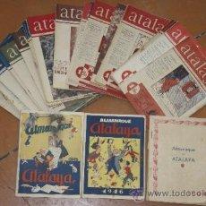 Tebeos: LOTE DE ATALAYA CON 4 ALMANAQUE DE 1944, 1945, 1946, 1947. Lote 34384771