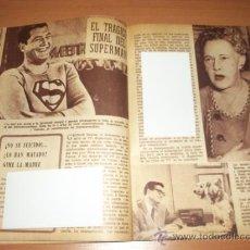 Tebeos: GUIA TV-1959 LA MUERTE DE SUPERMAN G.REEVES SERIE DE TV - LA MADRE SOSPECHA CANAL TV ARG.. Lote 34550581
