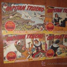 Tebeos: LOTE DE 4 COMICS - EL CAPITAN TRUENO - ORIGINALES - 1960 - . Lote 36172845