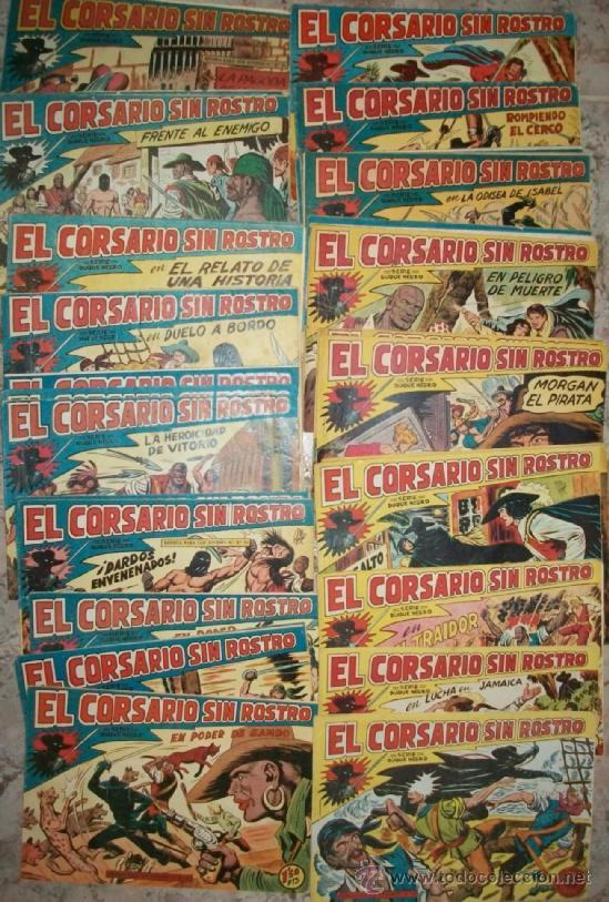 EL CORSARIO SIN ROSTRO (MAGA) 42 EJ (COMPLETA) (Tebeos y Comics - Tebeos Colecciones y Lotes Avanzados)