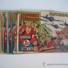 Tebeos: HOMBRES HEROICOS. LOTE ORIGINAL DE 9 CUADERNILLOS. EDITORIAL MAGA 1961.. Lote 38728322