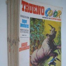 Tebeos: TRUENO COLOR. PRIMERA EPOCA (8 PTAS). LOTE DE 37 REVISTAS.EDITORIAL BRUGUERA 1969.. Lote 38754350