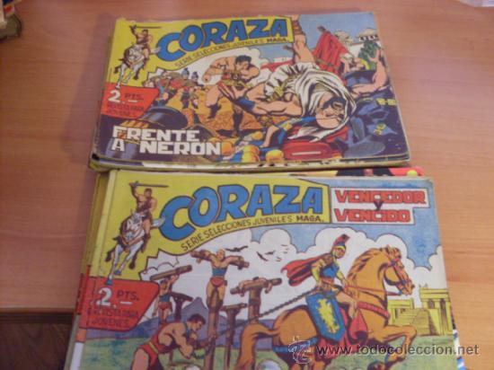 CORAZA. LOTE COLECCION COMPLETA ( ORIGINAL EDITORIAL MAGA) (CLA3) (Tebeos y Comics - Tebeos Colecciones y Lotes Avanzados)